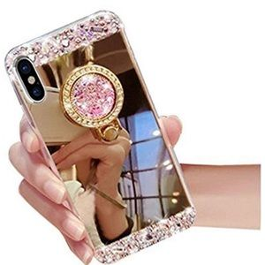 BRAND NEW iPhone X mirrored rose gold phone case